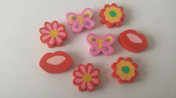 Red And Pink Girl Themed Eraser Party Bag Fillers (8)